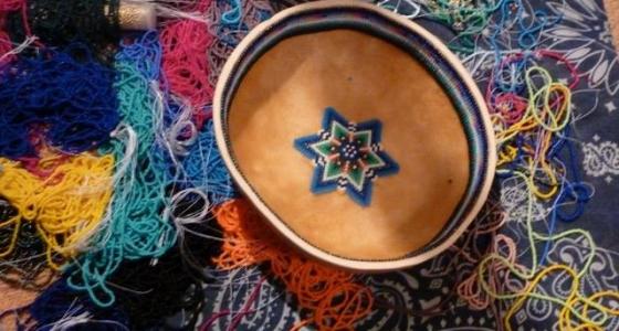 Indian Prayer bowl – beaded