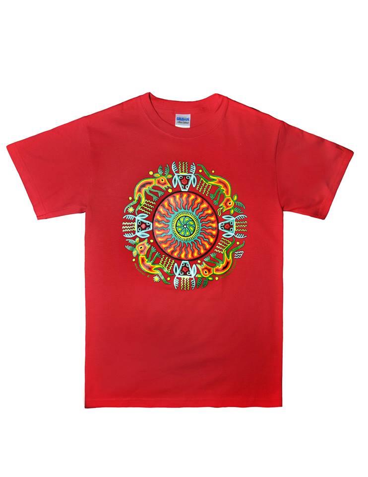 Huichol Indian T Shirt 39 Tatewari 39 Design Latin
