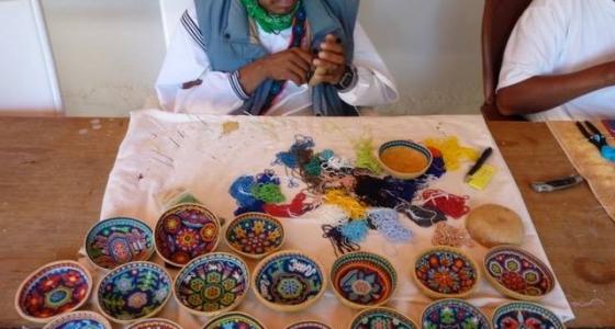 beaded prayer bowl creation process 2